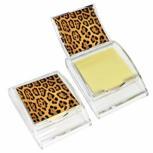 Leopard Print Sticky Note Holder