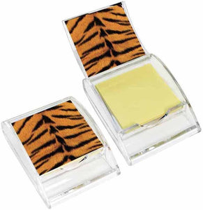 Tiger Print Sticky Note Holder