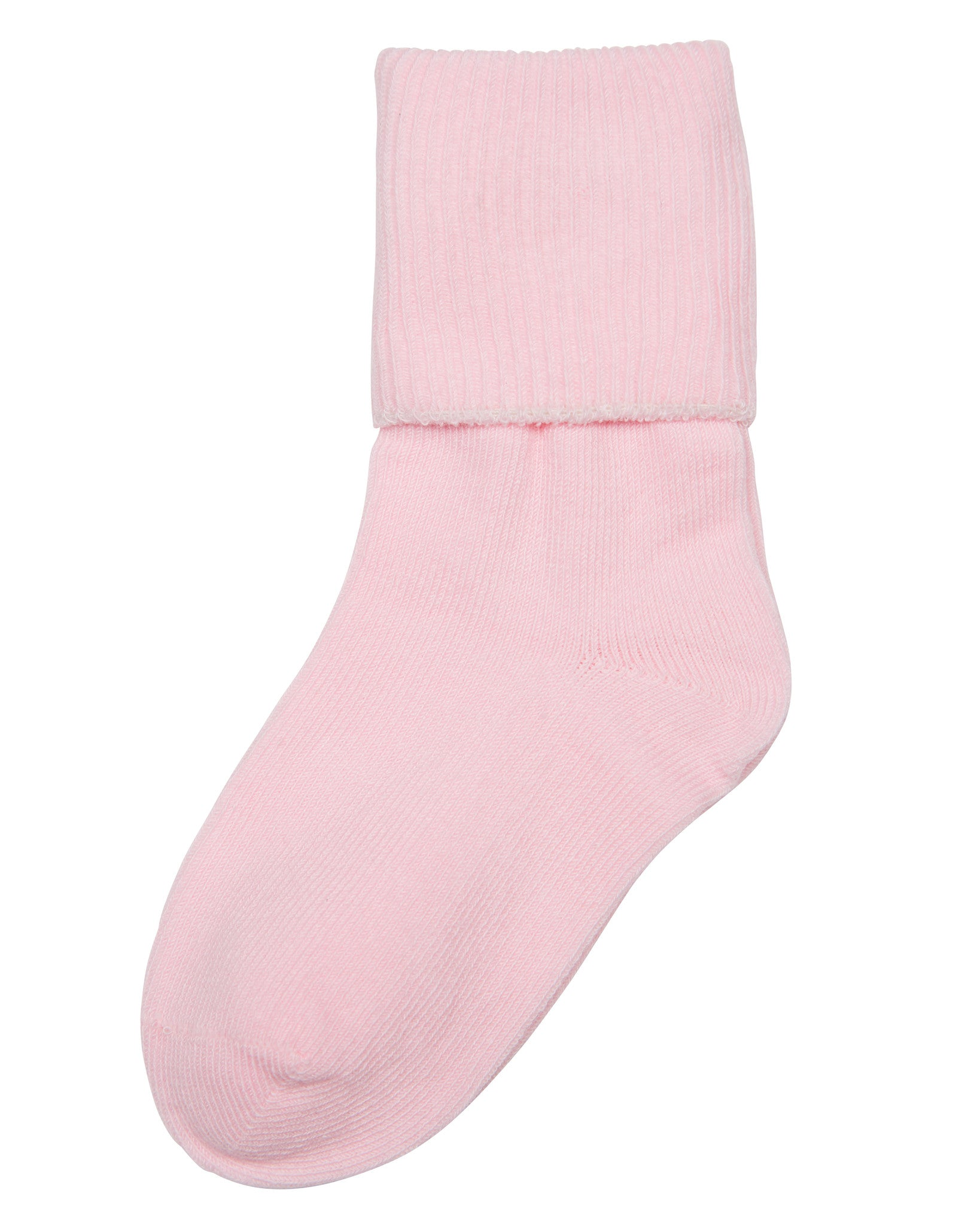 1-Pack Big Girls Single Cuff (Comfortoe) Pink Socks