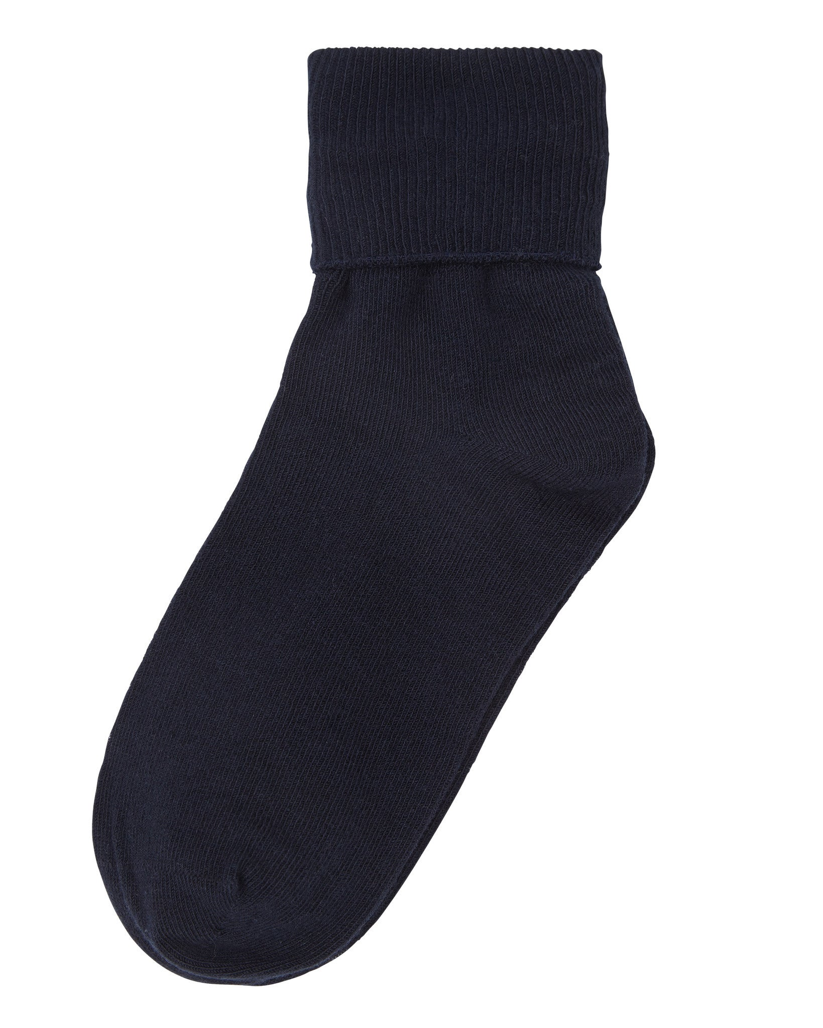 1-Pack Big Girls Single Cuff (Comfortoe) Navy Socks