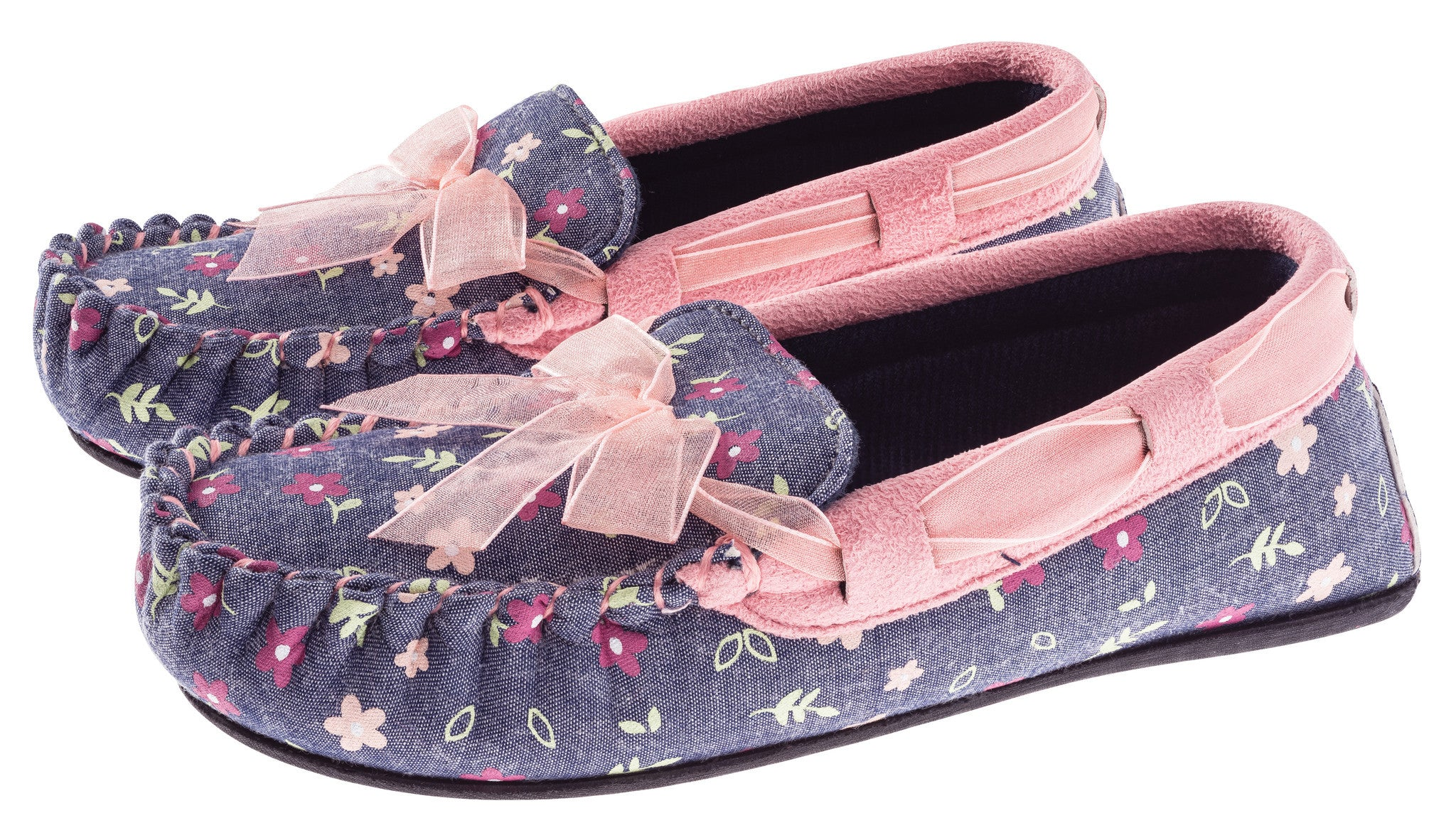 Girls Floral Moccasin Shoe