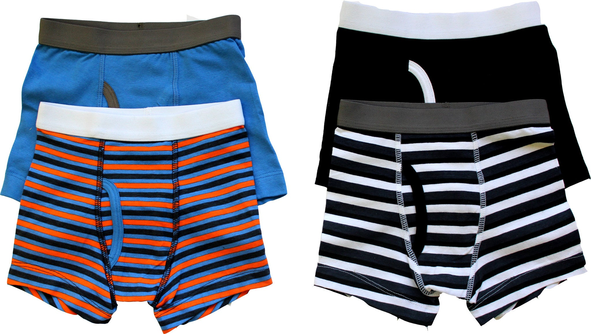 4-Pack Boys Stripes Boxer Briefs