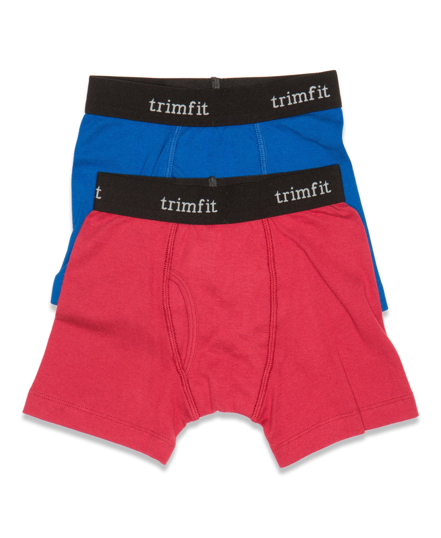 2-Pack 100% Combed Cotton Boxer Briefs