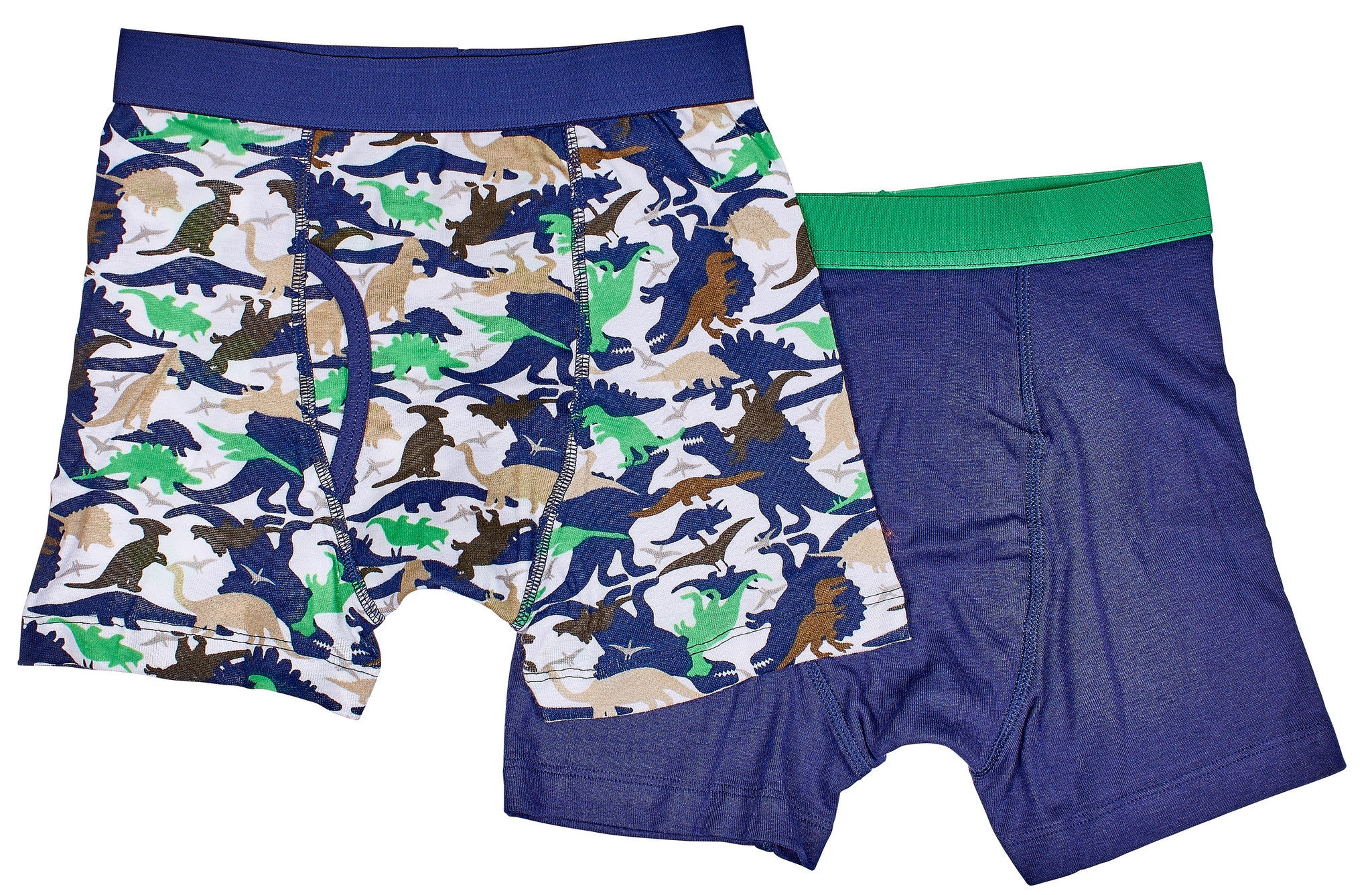 2-Pack Dinosaur Camoflage 100% Cotton Fashion Printed Boxer Briefs