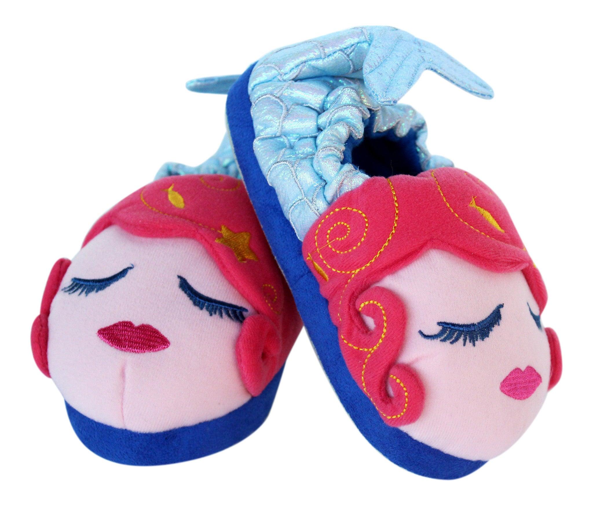 Little Girls Mermaid Plush Slipper