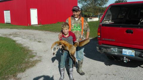 Grandchild-Tobyn-with-me-Red-Fox-Lenon-Nature-Call-Lure