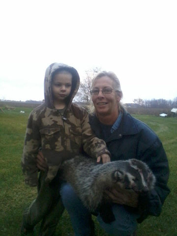 sheri-chagnon-grandchild-lenon-lures-badger