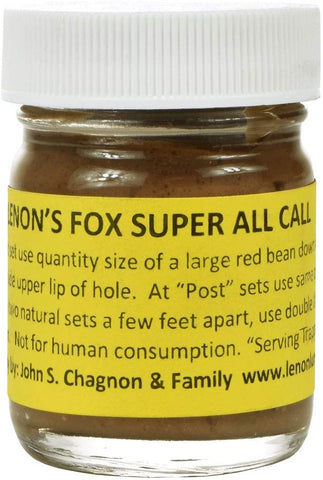 Lenon's Fox Super All Call - Lure / Scent Both Red Fox and Gray Fox will always investigate
