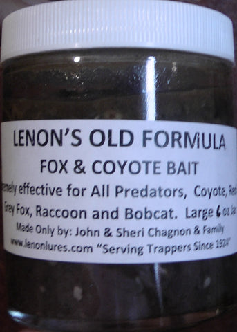 Lenon's Old Formula Fox & Coyote Bait 6 oz Jar