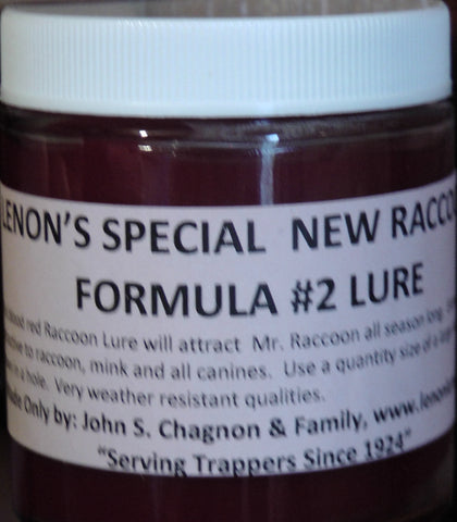 Lenon's Special New Raccoon Formula #2 Lure 4 oz.