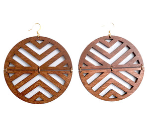 Flexi Earrings - Wood