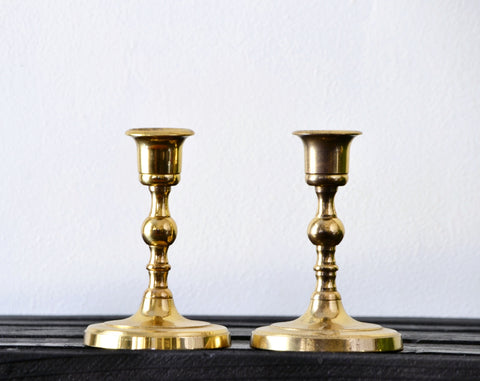 Brass Candlestick Set of 2