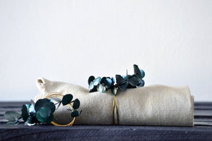 Handmade Eucalyptus Napkin Ring Set - Green