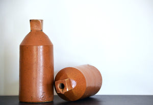 Vintage Stoneware Ink Bottle Set of 2