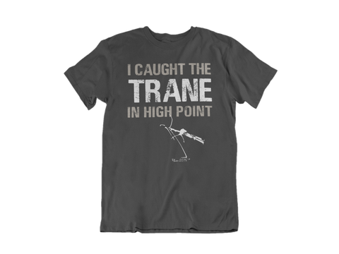 I Caught The Trane ( Sax Player) Tee - Gray and White