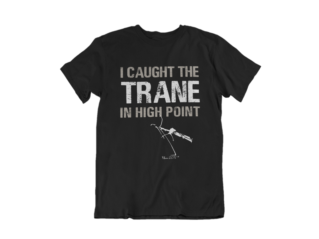 I Caught The Trane ( Sax Player) Tee - Black