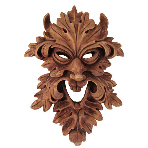 Leafman Mask Plaque (Green Man)