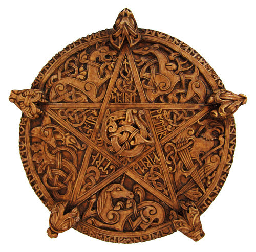 Large Knotwork Pentacle Wall Plaque