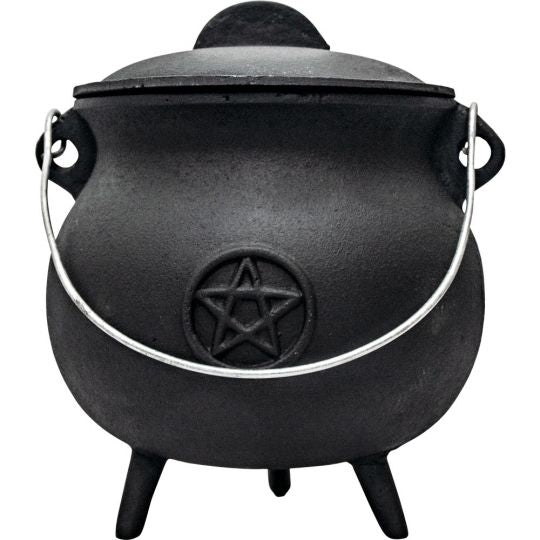 "7"" Cauldron with Lid and Pentacle"