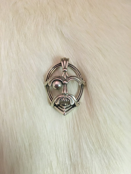 Sterling Silver Mask of Odin Pendant