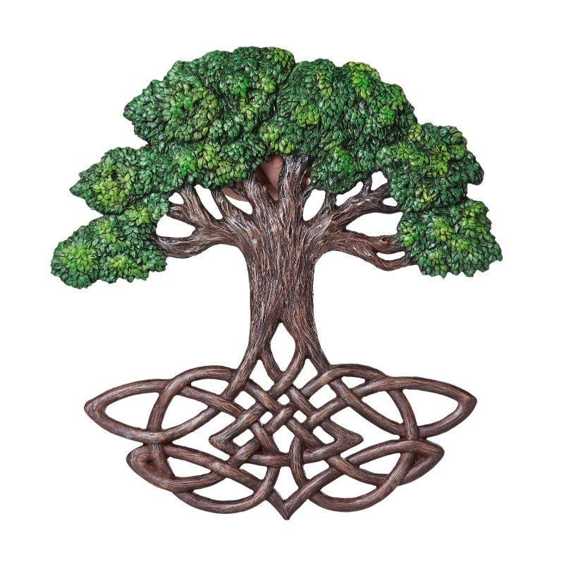 Tree of Life Wall Plaque - Painted
