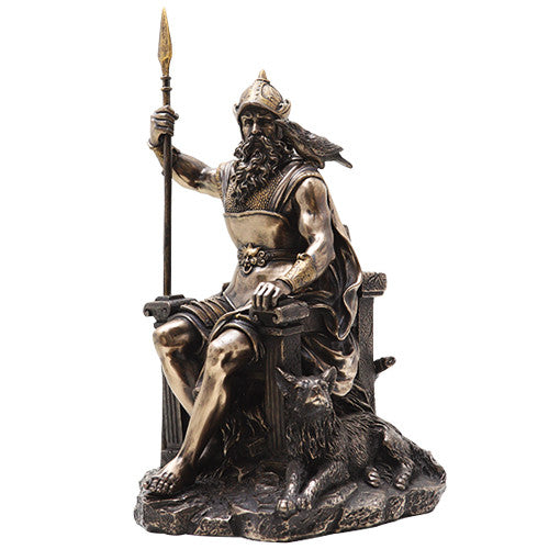 Seated Odin Statue - Cold Cast Resin