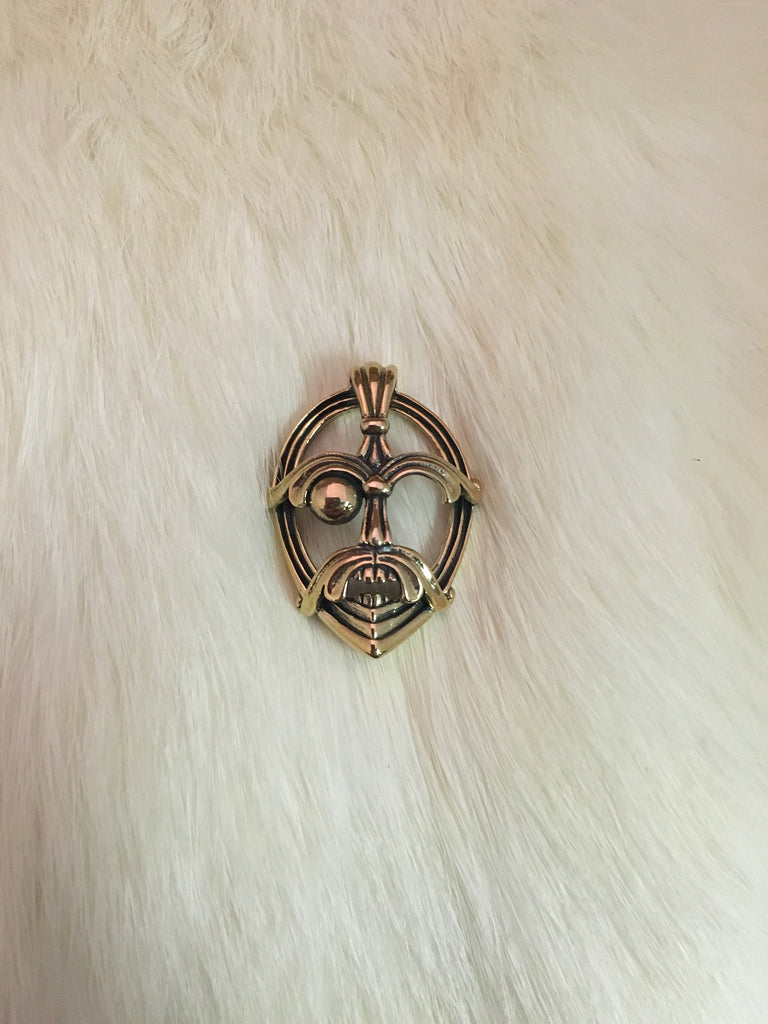 Mask of Odin Pendant (Bronze)
