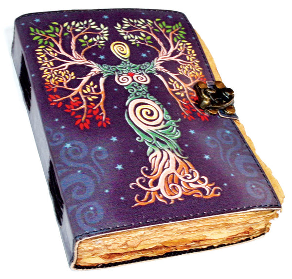 Colored Leather Goddess Journal with Aged Paper