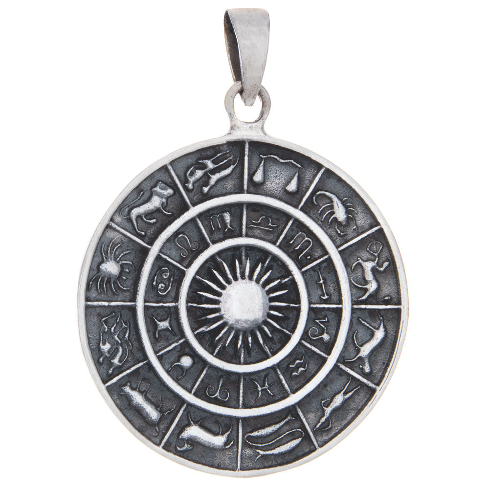 Astrology Wheel Celestial Pendant