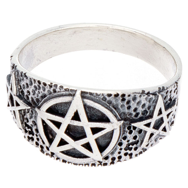Pentacle Band Ring