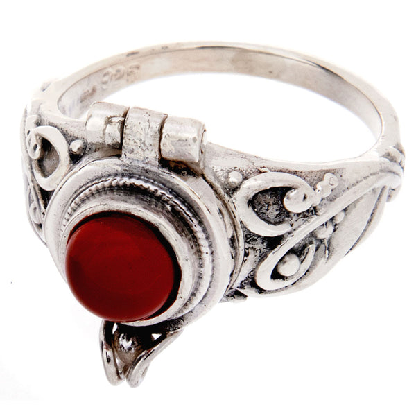 Carnelian Poison Ring
