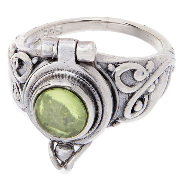 Peridot Poison Ring