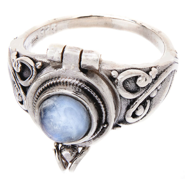 Rainbow Moonstone Poison Ring