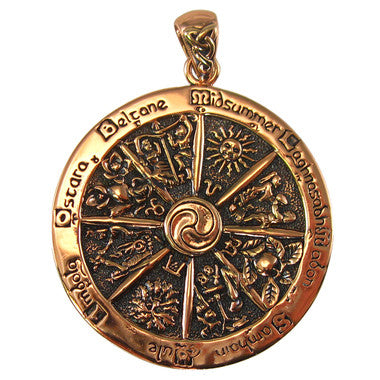 Wheel of the Year Pendant (Copper)