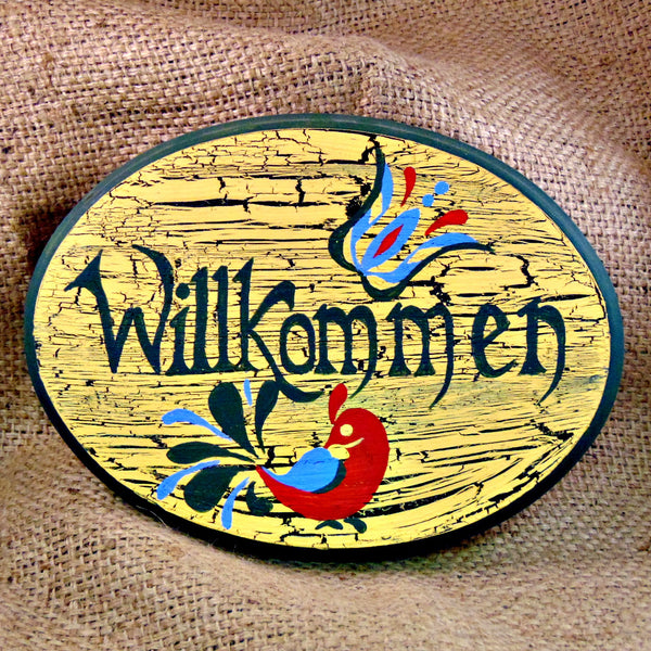 Willkomen German Welcome Plaque