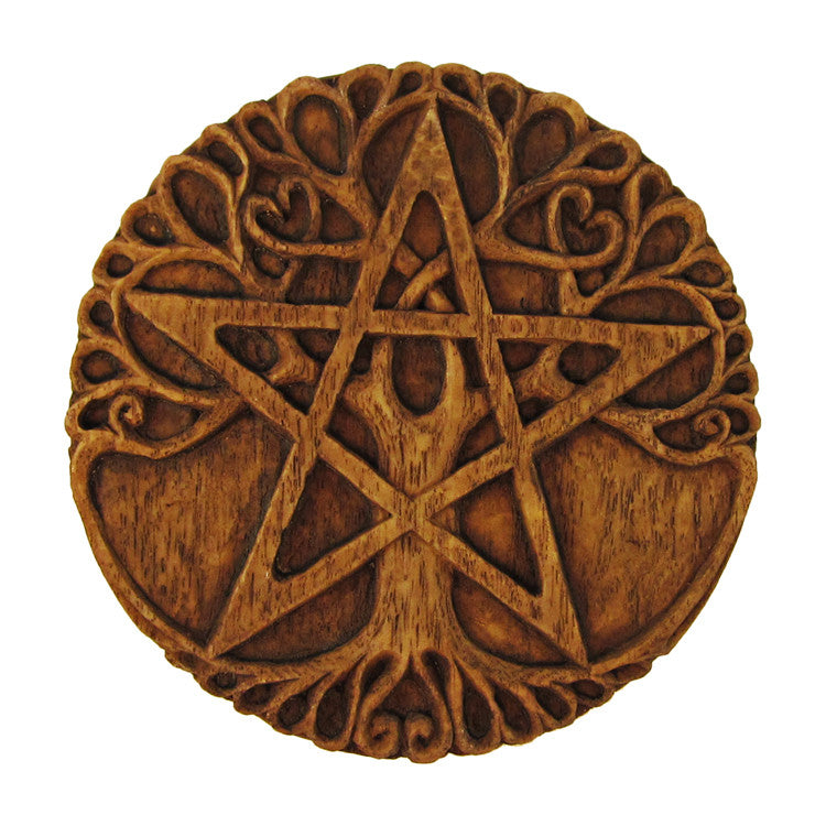 Small Tree Pentacle Wall Plaque
