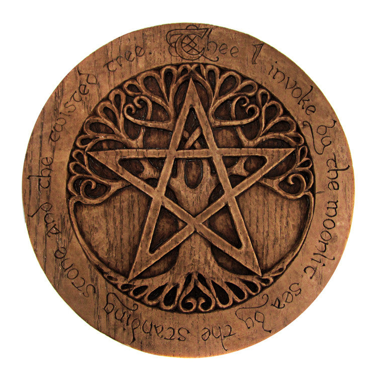 Tree Pentacle Wall Plaque - Large
