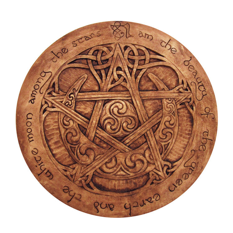 Large Moon Pentacle Wall Plaque