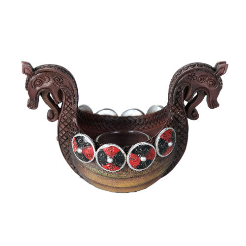 Viking Ship Votive Candle Holder