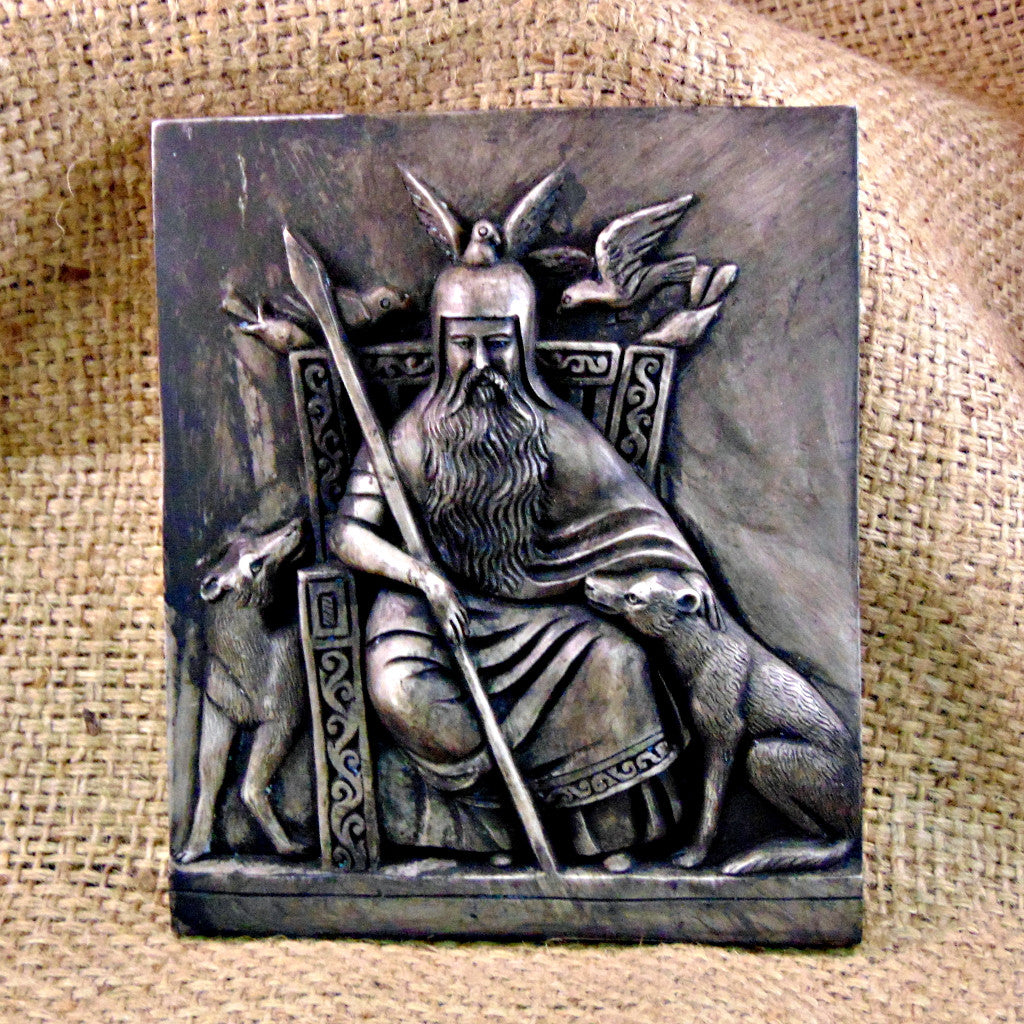 Odin Seated  Wall Plaque