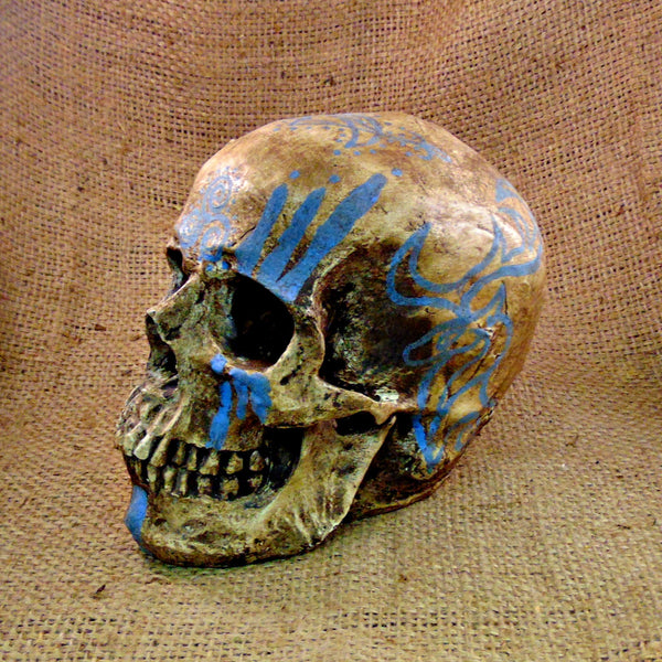 Hand Painted Pictish Skull (Resin)