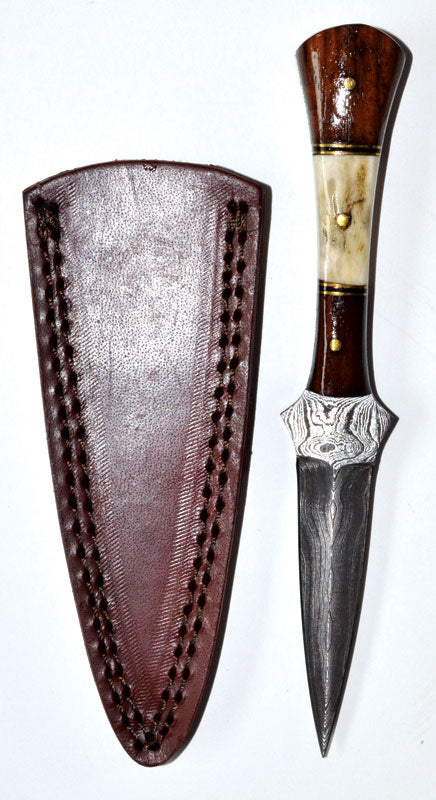 "7"" Baby Stag Damascus Athame"