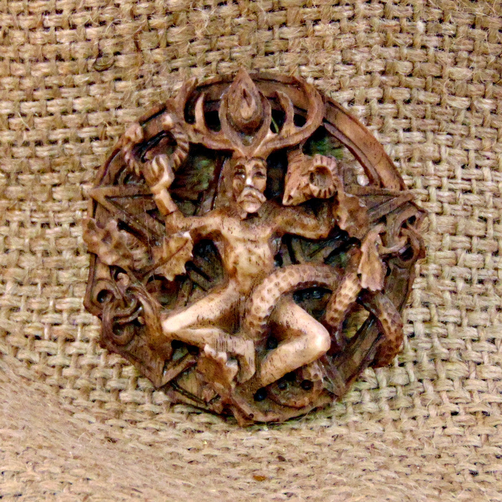 Round Cernunnos Wall Plaque - Small