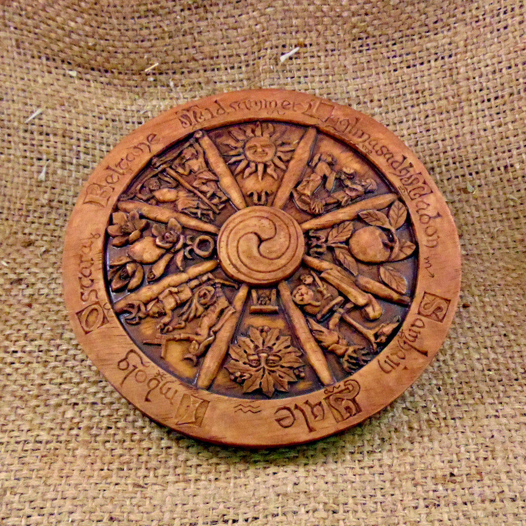 Wheel of the Year Wall Plaque - Wood finish (Small)