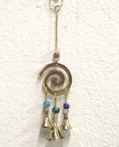 Spiral Windchime with Beads