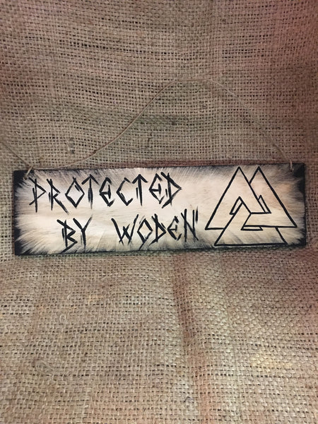 Protected by Woden Plaque