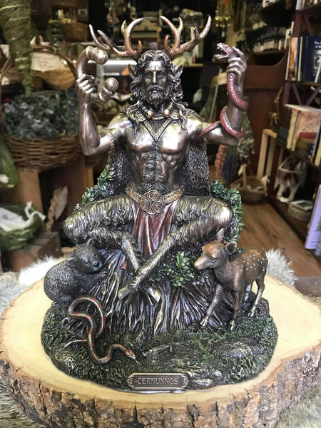 Cernunnos with Animals Statue