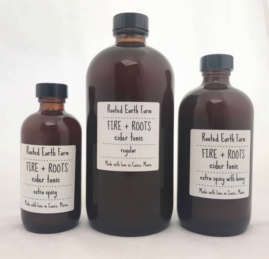 Fire and Roots Cider Tonic - Regular Spicy (8 oz. Jar)