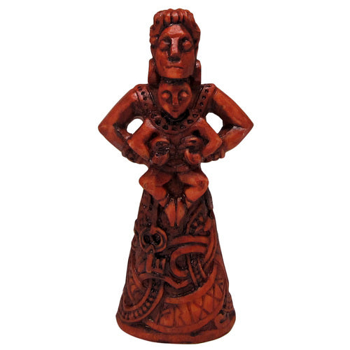 Frigga Figurine - Wood Finish