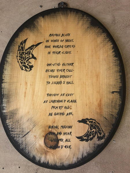 Odin's Ravens Poem Wall Plaque